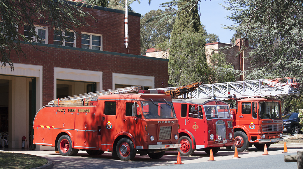 Historical firefighting vehicles