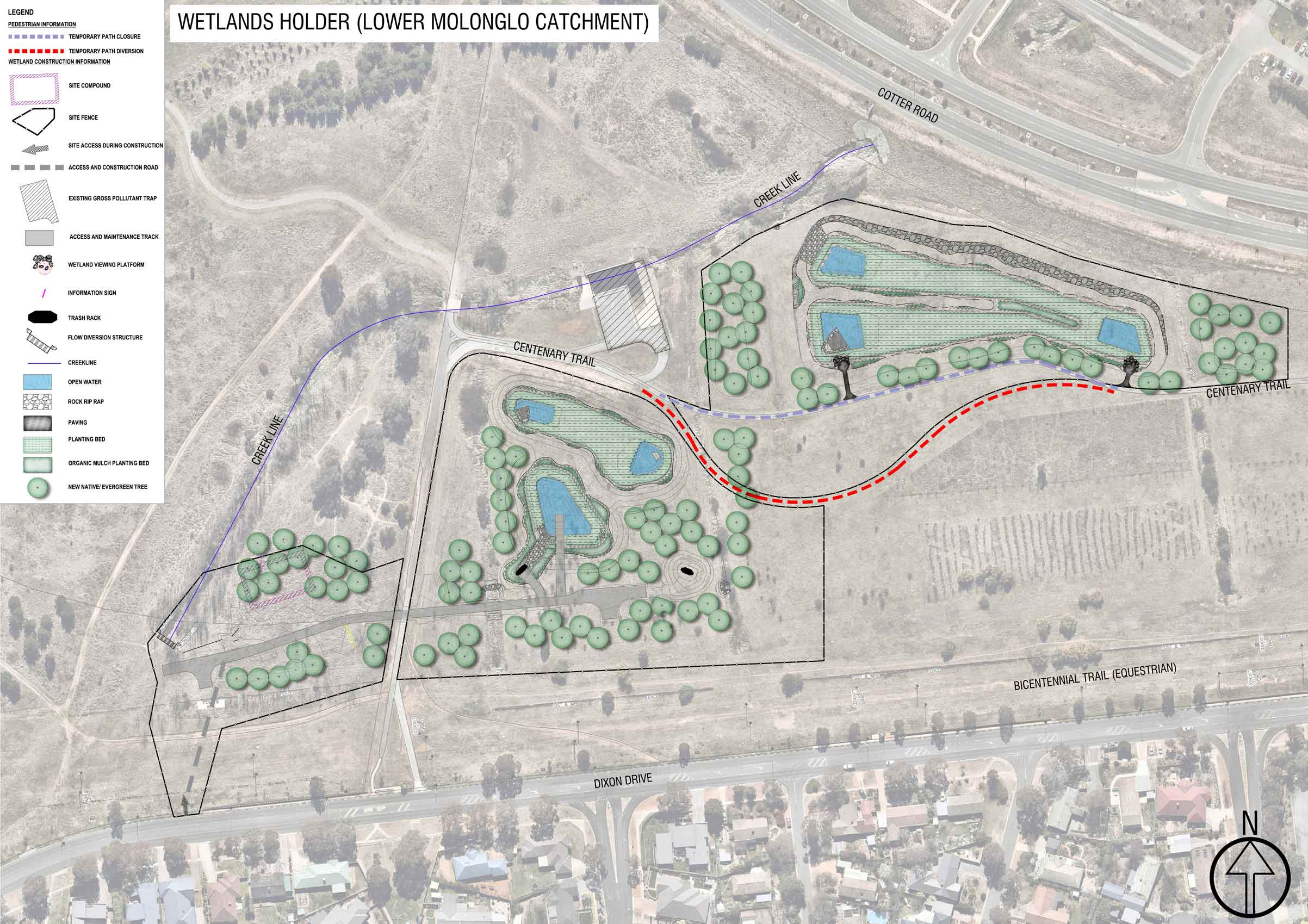 Wetlands landscape design plan