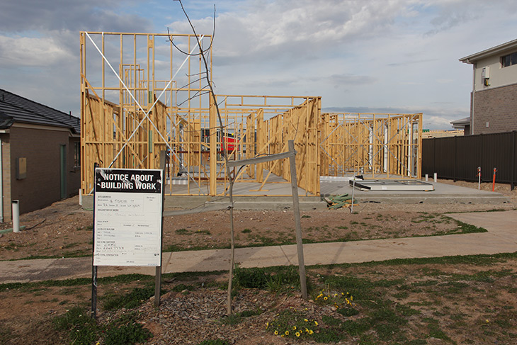 New housing development in the suburb of Wright