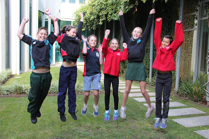 Students from the first three schools to receive ACTSmart Schools Five Star Accreditation celebrate