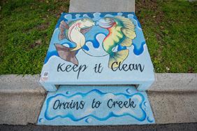 Keep It Clean drain art