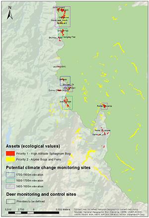 Map of grassland reserves