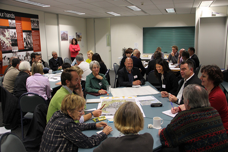 Attendees at a stakeholder workshop for the City Plan and City to the Lake proposal