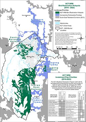 Map of bird restoration hotspots