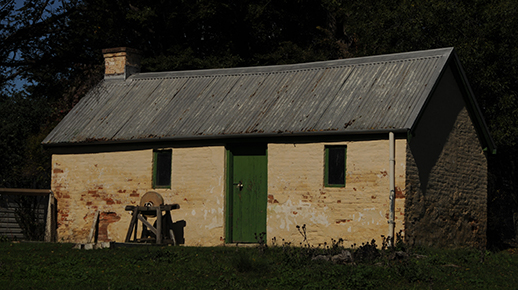 An image of one of the outbuildings at the heritage registered Lanyon Homestead