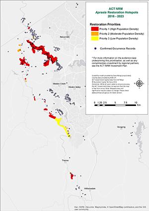 Map of Pink-tail Worm-lizard hotspots