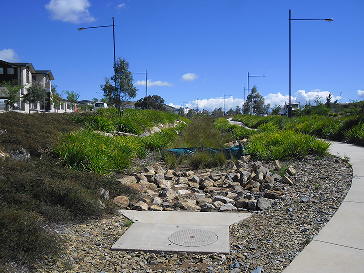 Water sensitive urban design manages water run-off and contributes to better water quality