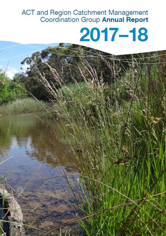 Act and Region Catchment Management Coordination Group Annual Report 2017-18 cover